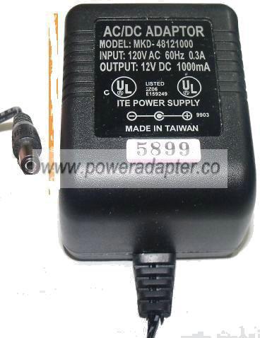 12V AC-DC Adapter Netzteil Ladegerät für Adaptor model no MHDE-12001000
